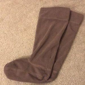 Light gray Tall Hunter Boot Socks- medium!